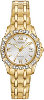 Citizen Women's Eco-Drive Diamond Accent Gold-Tone Stainless Steel Bracelet Watch 26mm EW2362-55A