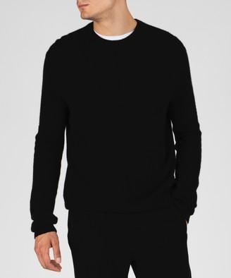 Atm Cashmere Exposed Seam Crew Neck Sweater - Black