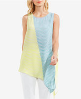 Vince Camuto Colorblocked Asymmetrical Top