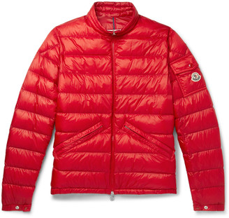 Moncler Quilted Shell Down Jacket - Men - Red