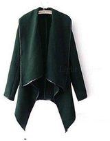 Cibeat Women's Warm Wool Slim Long Trench Parka Peacoat Outwear Overcoat Coat Jacket Color: Size (Women's):XXL