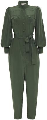 Zimmermann Belted Silk Jumpsuit