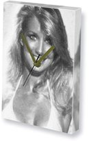 Seasons Canvas Clocks (A5) - Actresses HEATHER THOMAS - Canvas Clock (A5 - Signed by the Artist) #js001