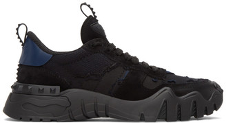 Valentino Black and Navy Garavani Rockrunner Plus Sneakers