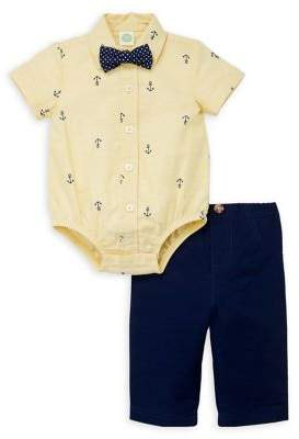 Little Me Baby Boy's 2-Piece Cotton Bodysuit & Pants Set