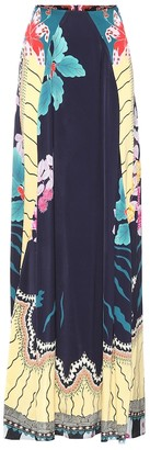 Etro Printed crepe maxi skirt
