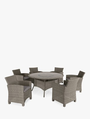 Kettler Palma 6-Seater Round Garden Dining Table & Chairs Set