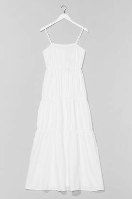 Nasty Gal Womens Come Over Tier Maxi Dress - White