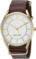 Nine West Women's NW/1942WTBN Analog Display Japanese Quartz Brown Watch