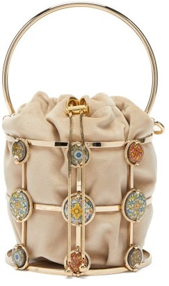 Rosantica Sicilia Tile Cage-frame Bucket Bag - Womens - Gold Multi