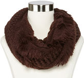 MIXIT ESSENTIALS Mixit Short Fringed Infinity Scarf
