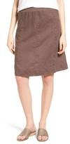 Eileen Fisher Women's Organic Linen Knee Length Skirt
