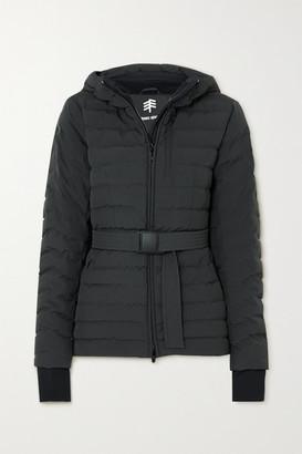 Ienki Ienki Basq Hooded Belted Quilted Down Ski Jacket - Black