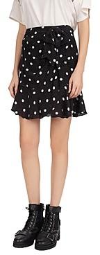 The Kooples Moonlight Dot Printed Skirt
