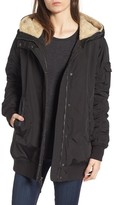 Andrew Marc Women's Nina Hooded Jacket With Faux Fur Trim