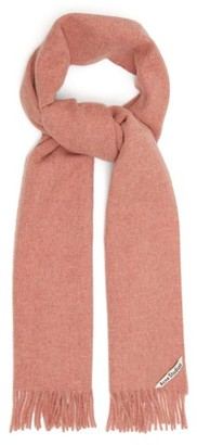Acne Studios Canada Skinny Fringed Wool Scarf - Womens - Pink