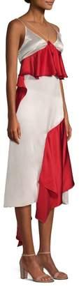 Each X Other Silk Ruffle Slip Dress