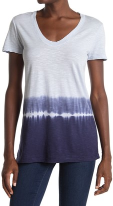 Caslon Dip Dye Scoop Neck T-Shirt