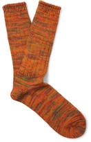 Anonymous Ism - Mélange Cotton-blend Socks - Orange