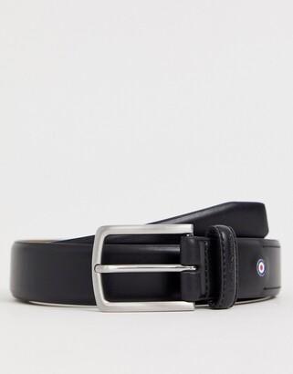 Ben Sherman smart leather belt in black