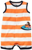 Carter's Baby Boy Striped Snap-Up Romper