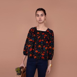 Meadows Myrtle Top Cord In Navy Floral - 10
