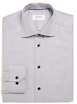 Eton Textured Solid Slim Fit Dress Shirt