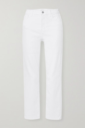 J Brand Alma High-rise Straight-leg Jeans - White