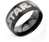 Star Wars Men's Logo Fashion Ring IP Black 316 Stainless Steel, Bin 50 sz 8.0