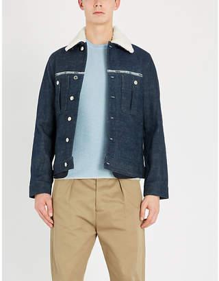 BOSS Crewneck cotton and wool-blend jumper