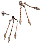 Pamela Love Women's 14ct Rose Gold Plated Sterling Silver with Bronze Calcite Three Stone Ear Jacket