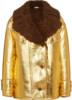 Miu Miu Metallic Shearling Jacket