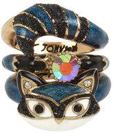 Betsey Johnson Mini Critters Raccoon Stack Rings
