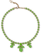 Valentino Gold-plated painted crystal necklace