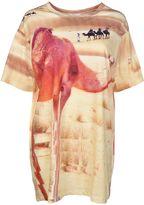 Les Benjamins Camel Print T-shirt