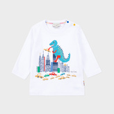 Paul Smith Baby Boys' White City Dinosaur Print 'Marny' Top