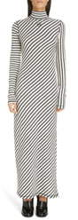 Loewe Stripe Long Sleeve Cotton Jersey Maxi Dress