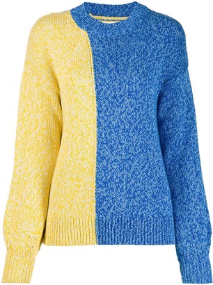 Parker Chinti & two-tone knitted jumper