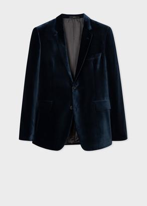 Paul Smith The Kensington - Men's Slim-Fit Dark Blue Velvet Blazer
