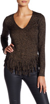 Riller & Fount Janey Long Sleeve Fringe Shirt