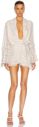 Rococo Sand Noi Short Dress in Off White | FWRD