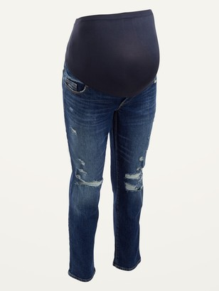 Old Navy Maternity Full Panel O.G. Straight Ripped Jeans