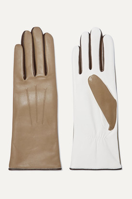 Isabel Marant Bocker Color-block Leather Gloves - Army green
