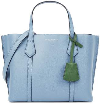 Tory Burch Perry blue small leather top handle bag