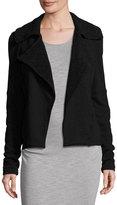Three Dots Rachel Terry Cloth Jacket, Black