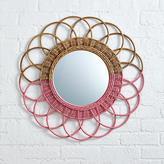 Sunrise Rattan Mirror (Pink)
