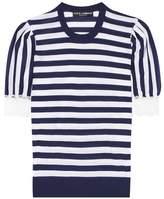 Dolce & Gabbana Striped cashmere and silk-blend top