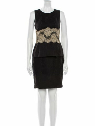 Dolce & Gabbana Lace Pattern Mini Dress Black