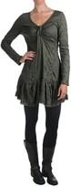 True Grit Dylan by Crinkle-Knit Dress - Lace Trim, Long Sleeve (For Women)