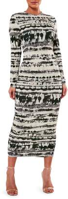 Missguided Tie-Dyed Midi Bodycon Dress